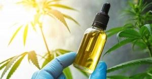 Bottle of cbd oil