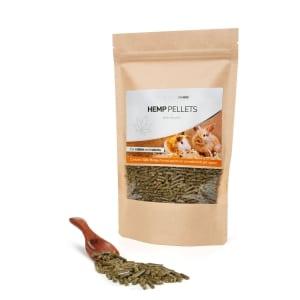 Hemp CBD pellets for a rabbit and a rodent